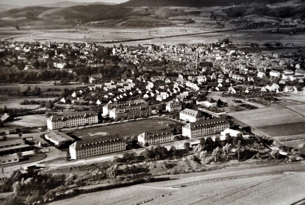 alte Postkarte Kaserne