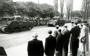 Sherman-Panzer in Marburg, 1945