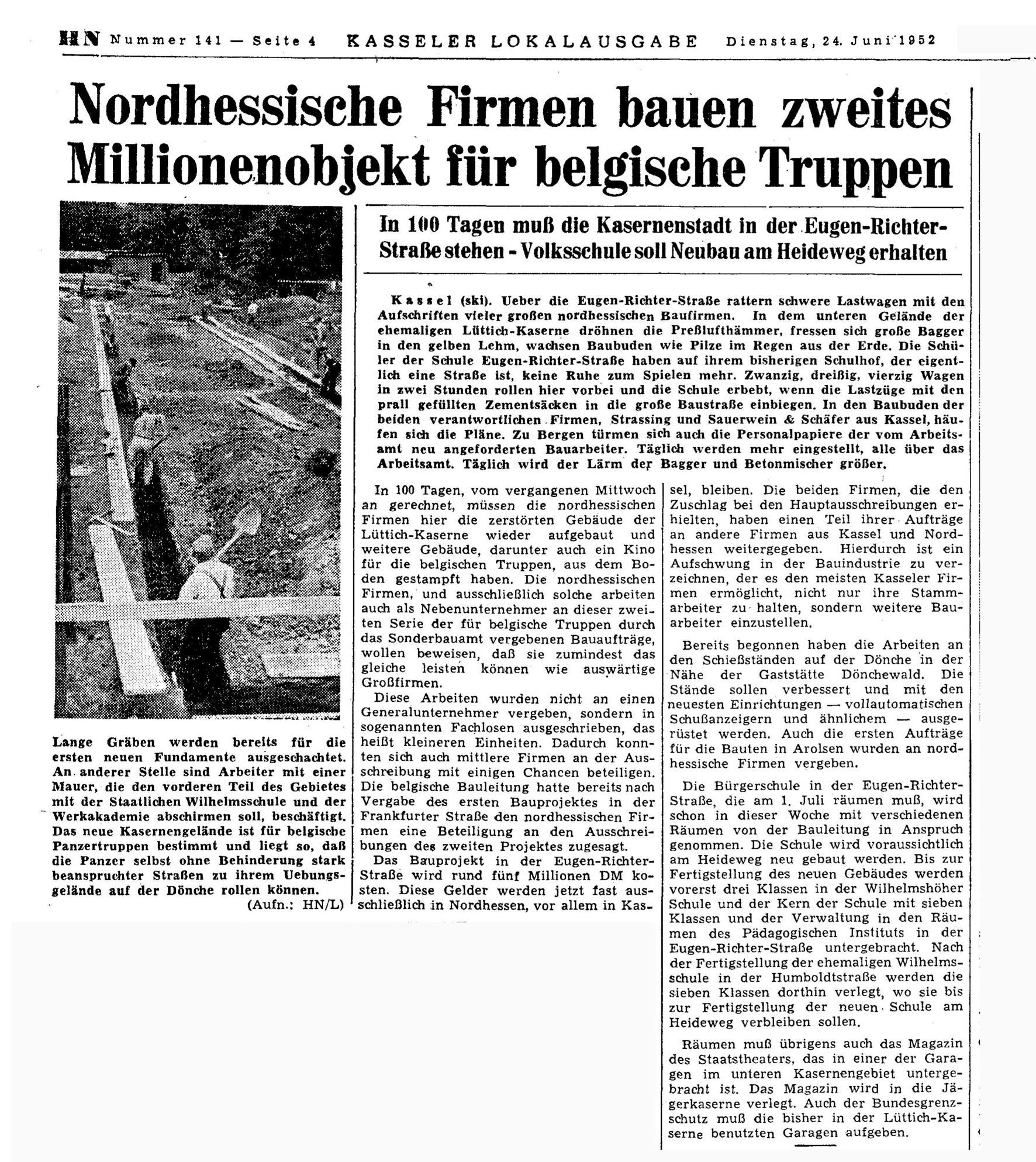 Kaserne f. belg.Truppen 24.06.52