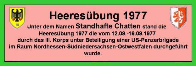 Schild Heeresübung 1977