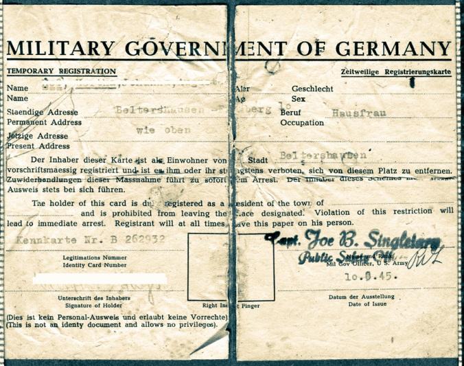 Ausweis US Militärregierung-1