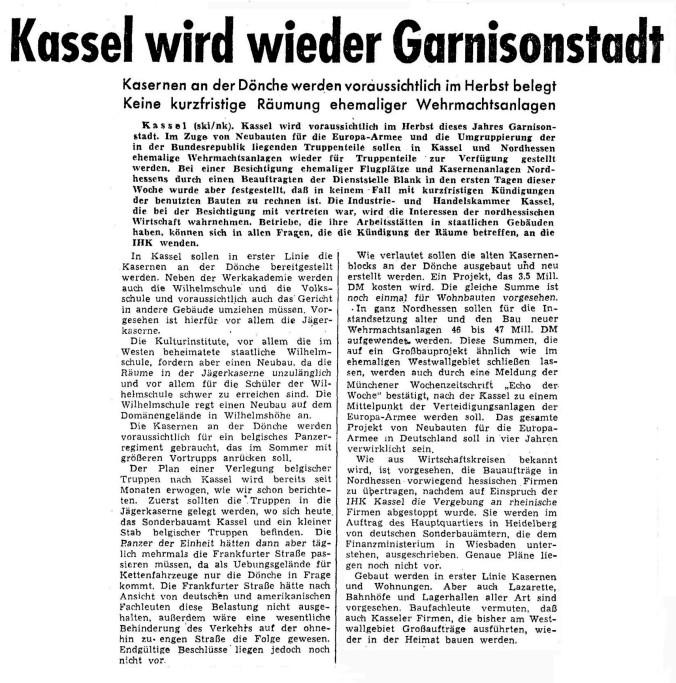 Kassel wieder Garnison 27.03.52_