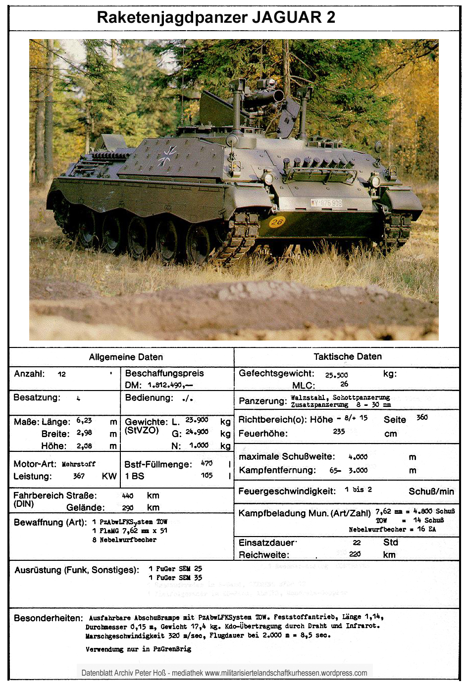 Datenblatt RakJgPz Jaguar 2