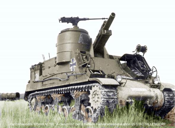 PzH A Geschütz M7B2 3.65 in Stellung