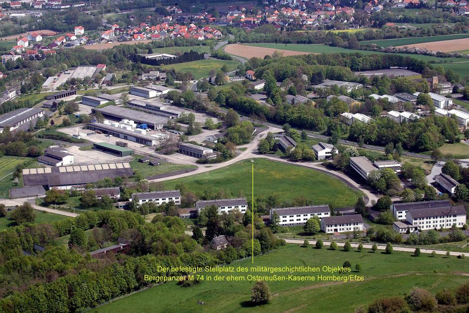 Luftaufnahme 2012 ehem. Ostpreußen Kas. Homberg_