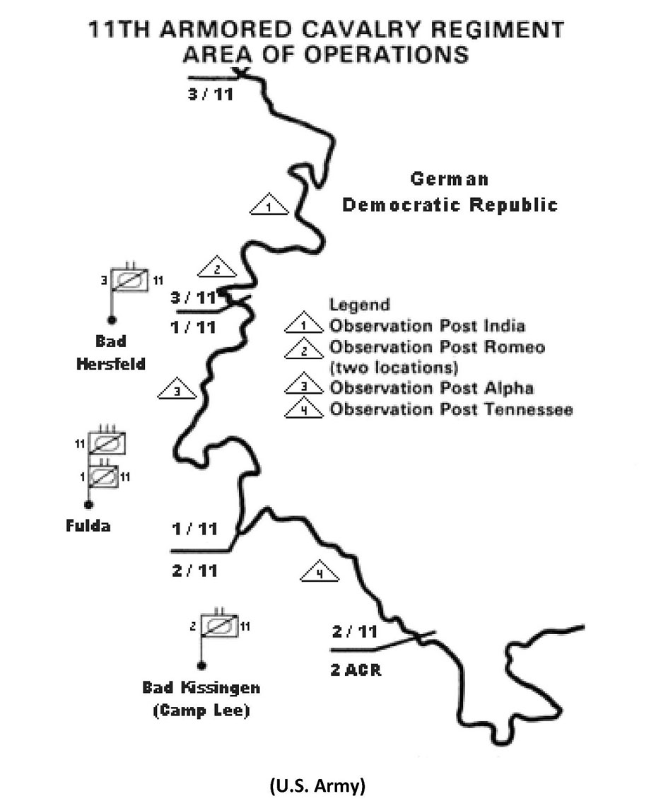 11.CAV Area of Operation Skizze
