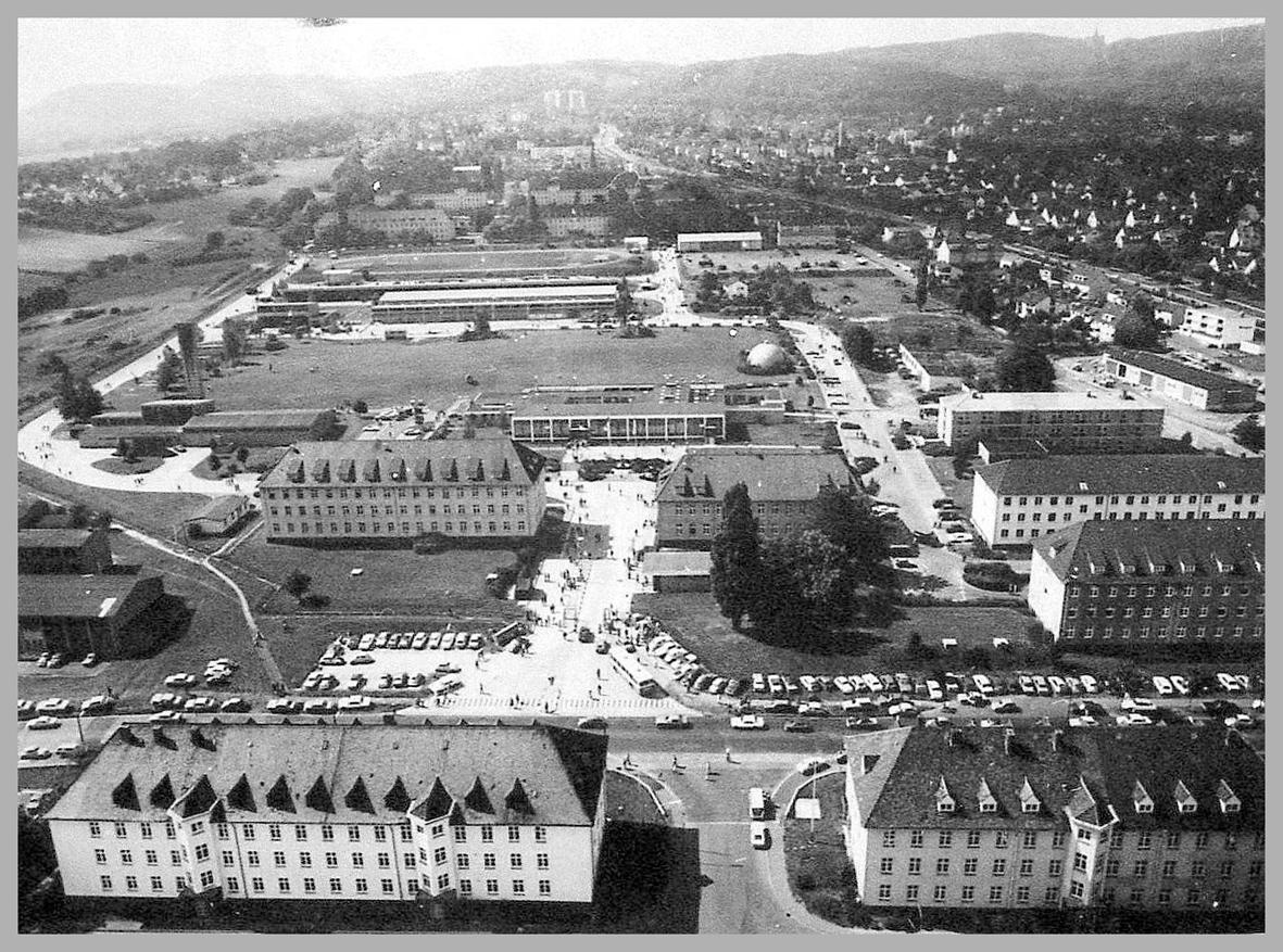 Luftaufnahme Hindenburg-Kaserne 1977