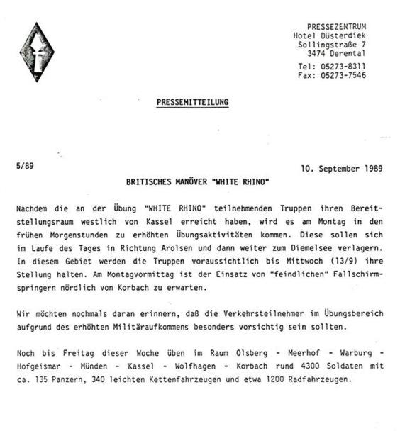 Presse Info White Rhino
