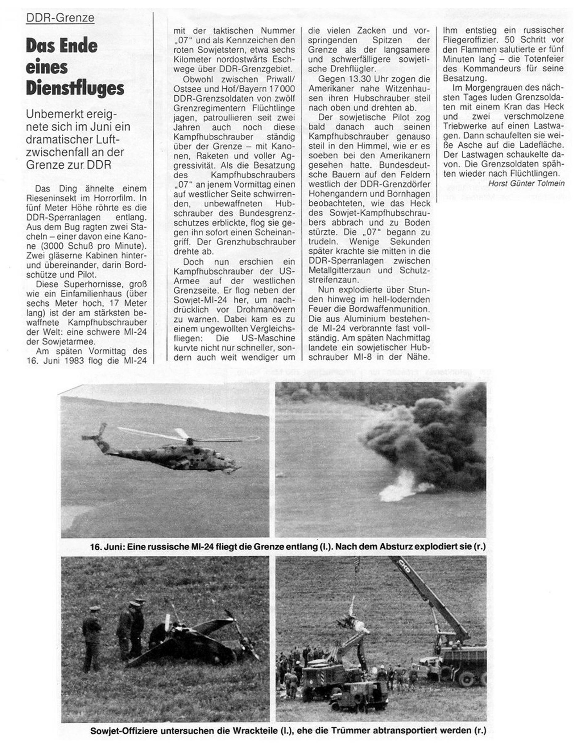 Pressemeldung Juni 1983