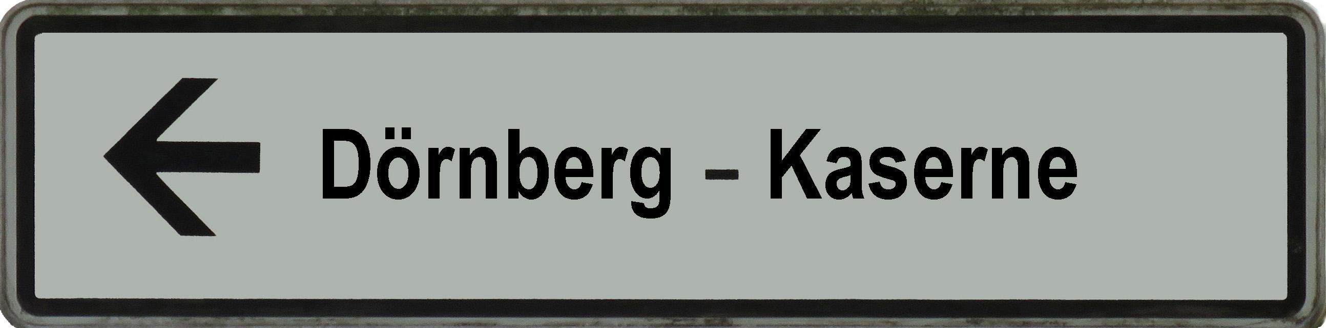 Schild Dörnberg-Kaserne