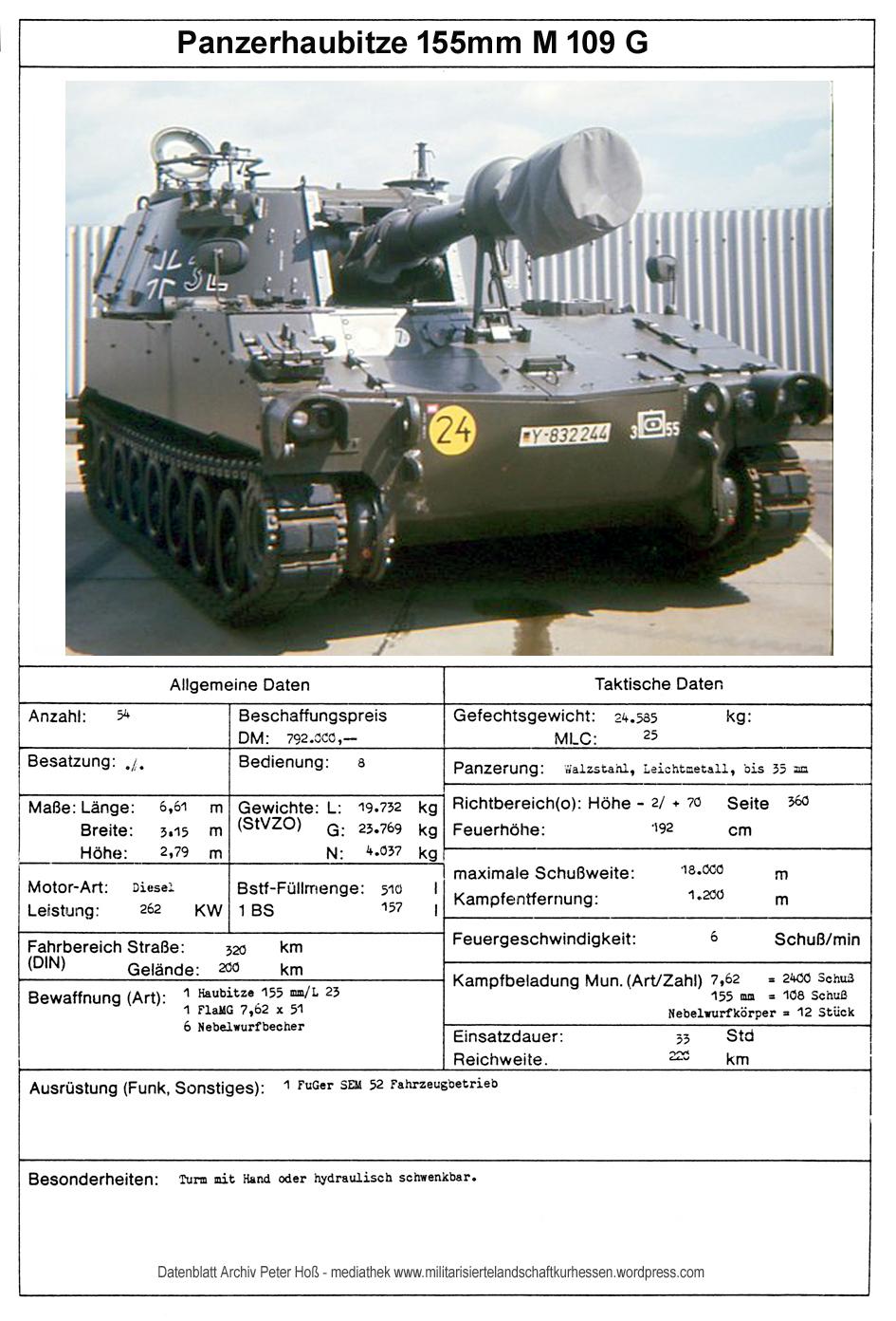 Datenblatt M109G